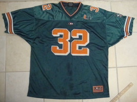 NCAA Miami Hurricanes Colosseum Brand Sewn Football Jersey XL - $19.74