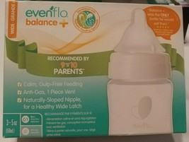 Evenflo Balance + Wide Neck BPA-Free Plastic Baby Bottles 5oz Clear Pack of 3 - $21.49