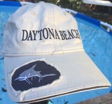 DAYTONA BEACH FLORIDA SHARK DISTRESSED Embroidered Hat Cap Adjustable Ta... - $24.47