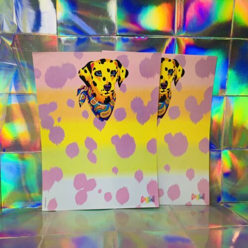 Vintage Lisa Frank Dalmatian Rainbow Puppy  2 Sheets Unmarked Stationery