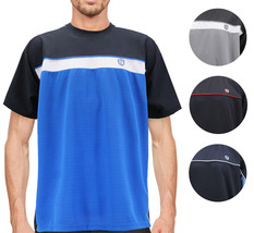 Men's Lightweight Work Out Gym Knit Shirt Outdoor Fitness Sports Jersey T-Shirt image 1