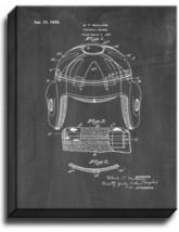 Football Helmet Patent Print Chalkboard on Canvas - $39.95+