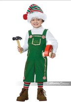 Christmas Little Elf Overalls Costume Santa's Toy Helper - $26.99