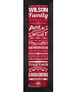 "Personalized Montreal Canadiens ""Family Cheer"" 24 x 8 Framed Print - $39.95"