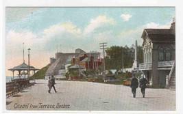 Terrace Street Scene Citadel Quebec Canada 1910c postcard - $6.44