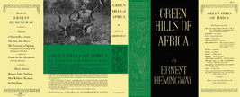 Ernest Hemingway GREEN HILLS OF AFRICA facsimile dust jacket for the 1st... - $22.00