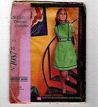 Vtg McCalls #1087 Geoffrey Beene 1969 Pattern Dress Uncut Designer Colle... - $17.33