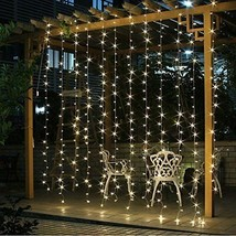 Twinkle Star 300 LED Window Curtain String Light for Wedding Party Home ... - $34.30