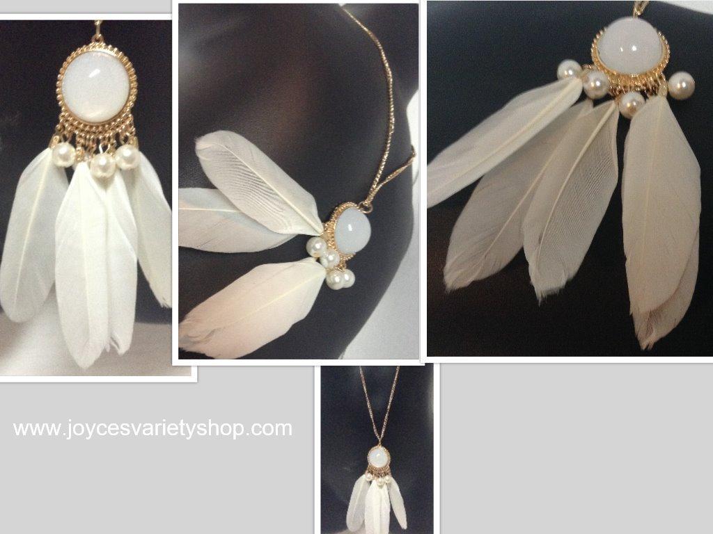 White dream catcher necklace collage