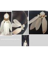 """Native American Feather Dream Catcher Necklace Gold Tone 19"""" Chain - $7.99"""