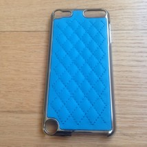 New Blue Hard Leather Case Cover & LCD Protecto... - $9.49
