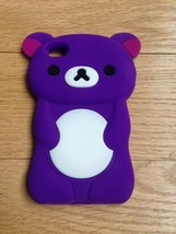 3D Purple Bear Silicone Case Cover & LCD Protec... - $8.90