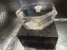 """VERSACE""BY ROSENTHAL, GERMANY  ""MEDUSA LUMIERE"" CRYSTAL BOWL, 7 INCH - $325.00"