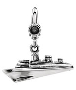 Cruise Ship Charm In Sterling Silver - $54.45