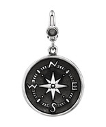 Compass Charm In Sterling Silver - $54.45