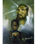 Jesus 8x10 Vintage Religious African American Canvas Wall Art - :rdoward... - $19.00