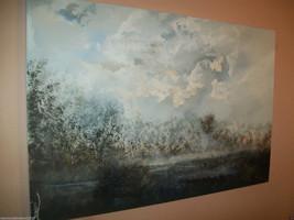 "ORIGINAL 36"" ACRYLIC Modern Landscape CANVAS  P... - $127.71"