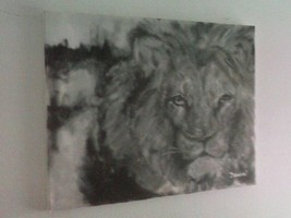 "Original 20"" Lion Contemporary Modern Decor Pai... - $48.51"