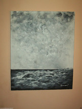 "ORIGINAL 20"" ACRYLIC SEASCAPE MODERN DECOR CANV... - $48.51"
