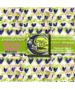 Waving hearts midnight banner thumbtall