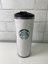 Starbucks White Mermaid Siren Insulated Travel Coffee Mug Cup Tumbler 16... - $14.95