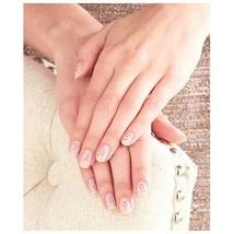 Breast Cancer Awareness 30 Pc Self Adhesive Nail Jewels Pink Ribbon Nail... - $12.88