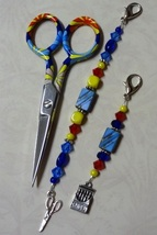 Tessa Gingher Long Scissor Fob cross stitch needlework My Big Toe Designs - $18.00