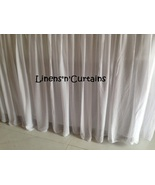 King size WHITE Chiffon Ruffled Bed Skirt in any drop length - $69.99+