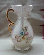Vintage LUSTERWARE Applied Flower Ivory Posey Table Top Vase - $14.00