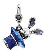 Enamel Bunny in Magician Hat Charm In Sterling Silver - $61.38