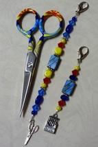 Tessa Gingher Mini Scissor Fob cross stitch needlework My Big Toe Designs - $10.00