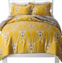 Room 365 Yellow Gray Geo Standard Pillow Sham Case Only New Shell Dot - $17.99