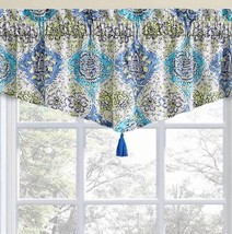 "Waverly Kings Ascot Blue Floral Window Valance 52""x20"" New - $22.05"
