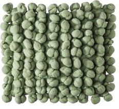 Boho Boutique Knotted Yarns Decorative Throw Bed Pillow Green New - $22.05