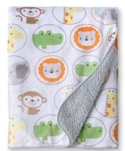 Circo Snoozin Safari Baby Blanket Plush Soft Grey Monkey Lion Boy Girl - $423,74 MXN