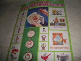Teach Yourself Counted Cross Stitch - $4.00