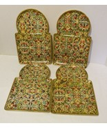 Vintage Papier Mache Snack Tray Set by Viking Imports Made in Japan - $24.98