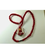 Necklace 25Inches Granddaughter Handmade Kumihimo Wire Wrapping Mixed Me... - $39.99