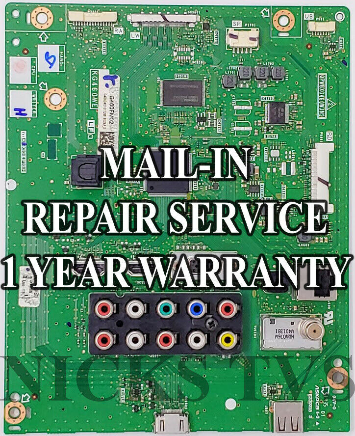 Primary image for Mail-in Repair Service Sharp of DUNTKG780FM02 and QPWBXG780WJZ for PN-LE801