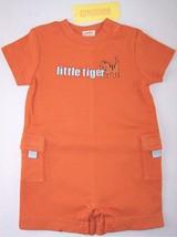 NWT Gymboree Infant Boy's Orange Tiger Romper, 3-6 Mos., Summer Safari, $26.50 - $13.99