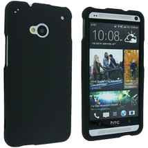 Black Snap-On Hard Case Cover for HTC One M7 - $4.45