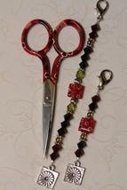 Sonia Gingher Long Scissor Fob cross stitch needlework My Big Toe Designs - $18.00