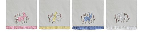 Easter Bunny Rabbit Tea Towel Set of 4