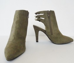 NIB Seychelles Expert Buckled Suede Ankle Bootie Heel Sz 7 M Clay Khaki ... - $64.30