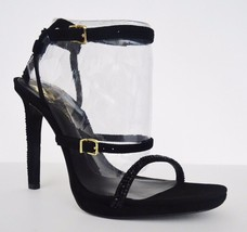 NIB Vince Camuto Signature Slona Suede Beaded Heels Sandals Womens Sz 8.5 M $275 - $138.55