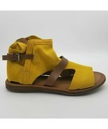 Miz Mooz Womens Finney Bootie Sandals Lemon Yellow Suede Boho Eu 39 New - £42.72 GBP