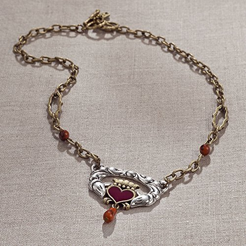 Enesco JS Necklace Claddagh Heart/aga