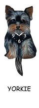 Pink Cloud Yorkie Swinging Pendulum Wall Clock - $41.99
