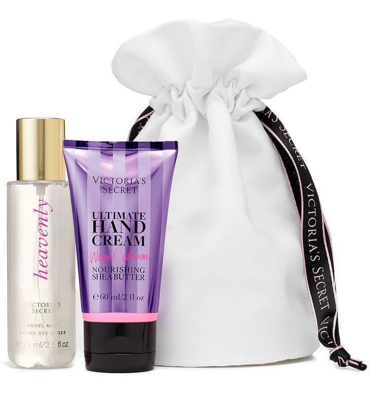 NWT Victoria's Secret HEAVENLY Mini Must-Haves Travel Set in Pouch
