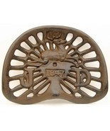 Reproduction, Collectible Cast Iron John Deere 1847 Rust Color Tractor Seat - $59.39